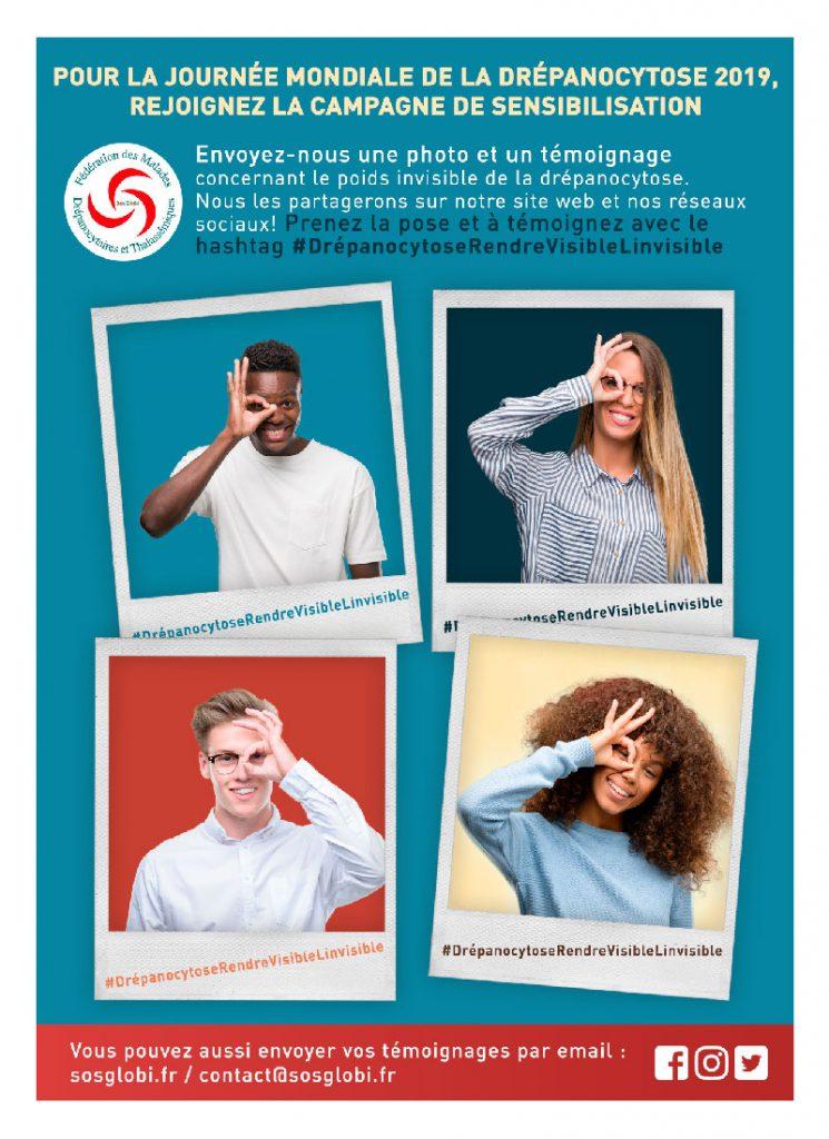 Affiche Journée mondiale de la Drépanocytose 2019
